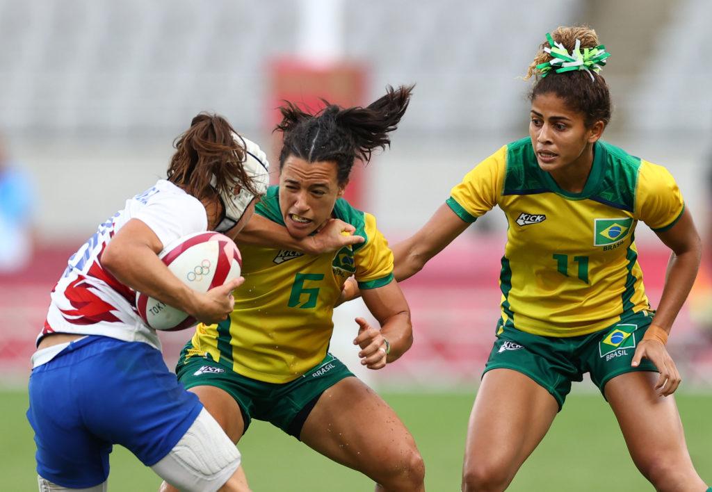 Rugby Sevens - Women - Pool B - France v Brazil