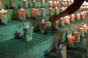 Brazilians light candles to mark 500,000 COVID-19 deaths, in Rio de Janeiro