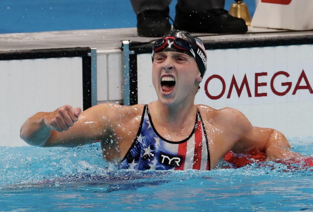 Katie Ledecky wins 1st gold at Tokyo Olympics