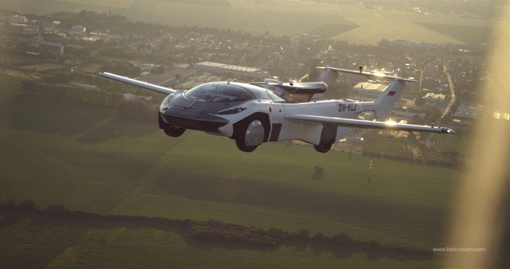 An AirCar takes flight over Slovakia.