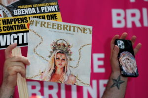 Protest in support of pop star Britney Spears on the day of a conservatorship case hearing in Los Angeles