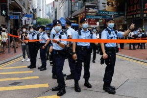 Protest during anniversary of Hong Kong's return to Chinese rule
