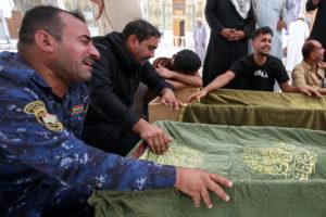 Funeral of al-Hussain coronavirus hospital victims, in Najaf