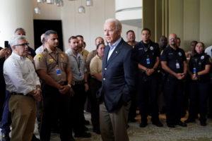 U.S. President Biden visit Surfside after a building collapse