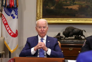 President Biden meets with his Attorney General, law enforcement officials, and community leaders to discuss gun violence ...