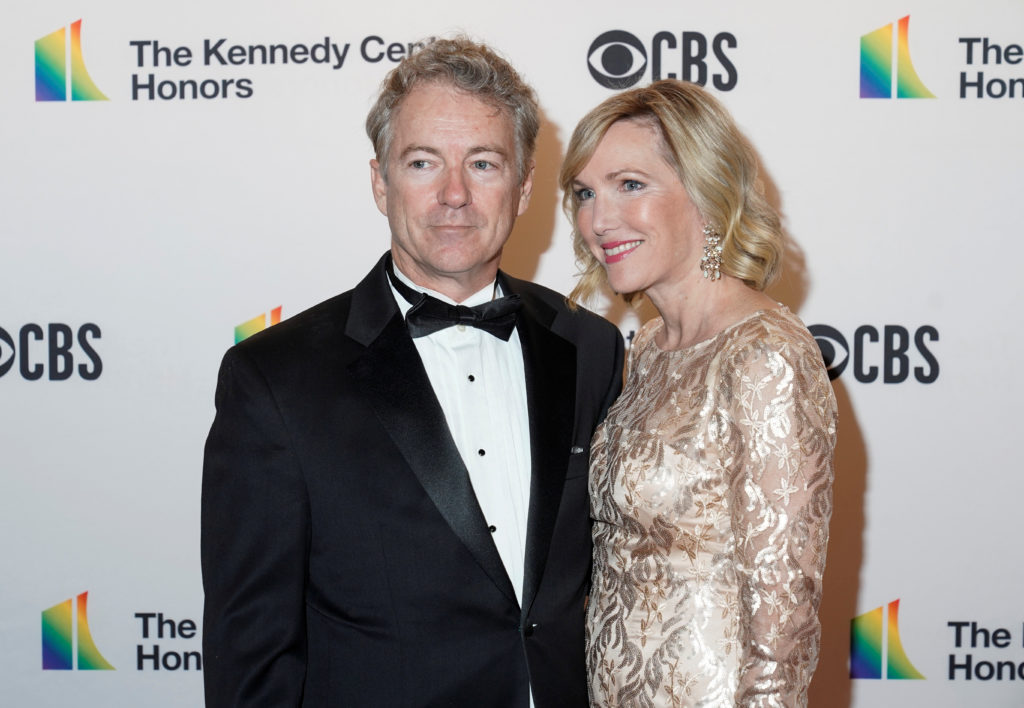 Senator Rand Paul (R-KY) and his wife Kelley Paul arrive for the 42nd Annual Kennedy Awards Honors in Washington