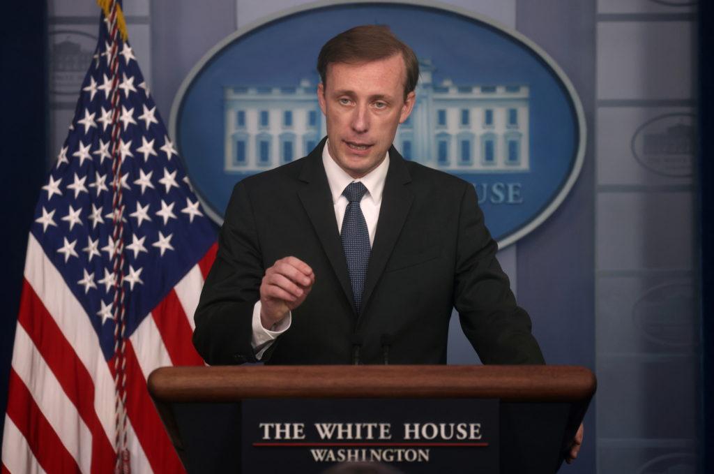 FILE PHOTO: White House Press Secretary Jen Psaki holds a press briefing at the White House