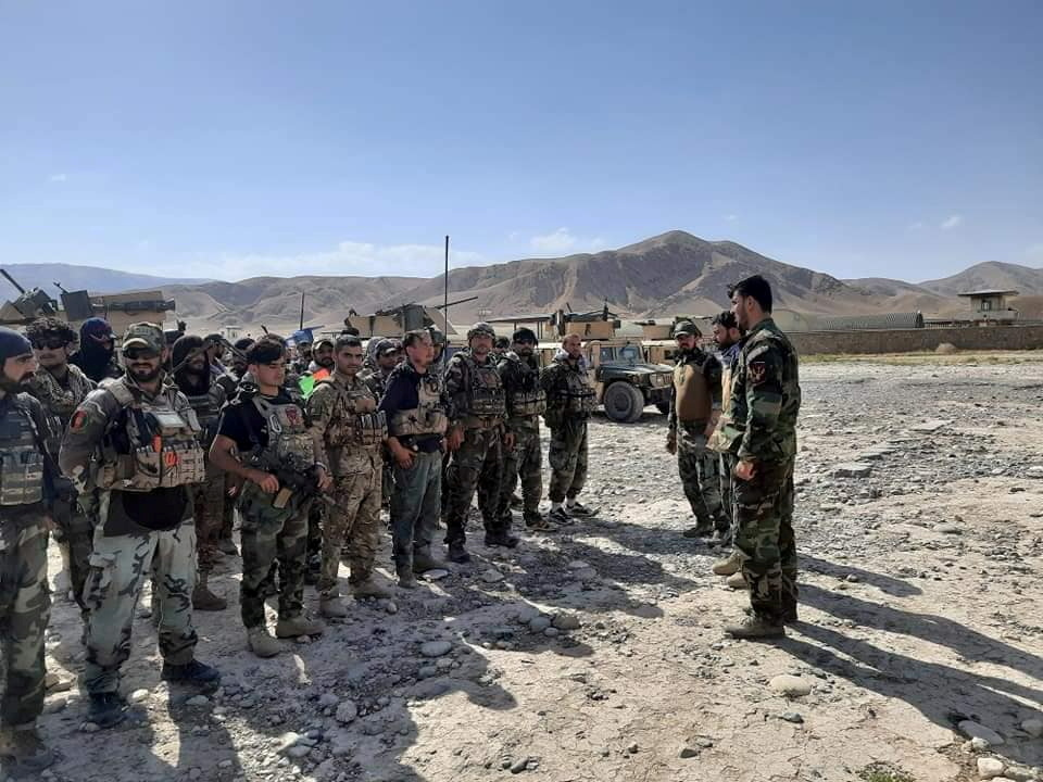 FILE PHOTO: Afghan Commandos arrive to reinforce the security forces in Faizabad the capital of Badakhshan province, after...