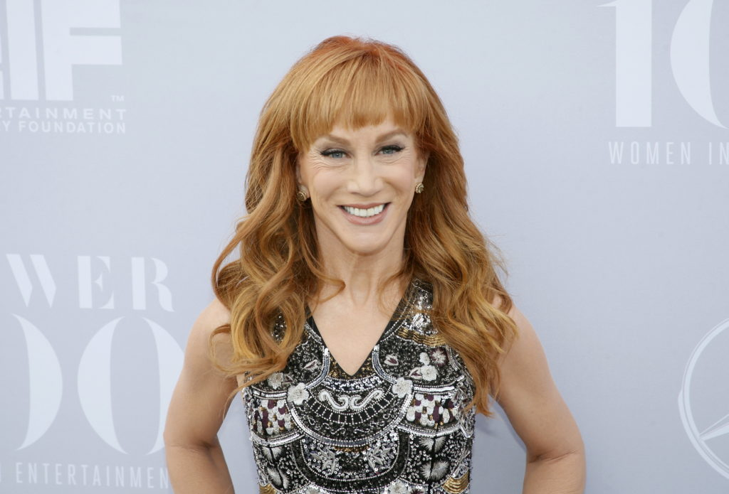 FILE PHOTO: Comedian Kathy Griffin poses at The Hollywood Reporter's Annual Women in Entertainment Breakfast in Los Angele...