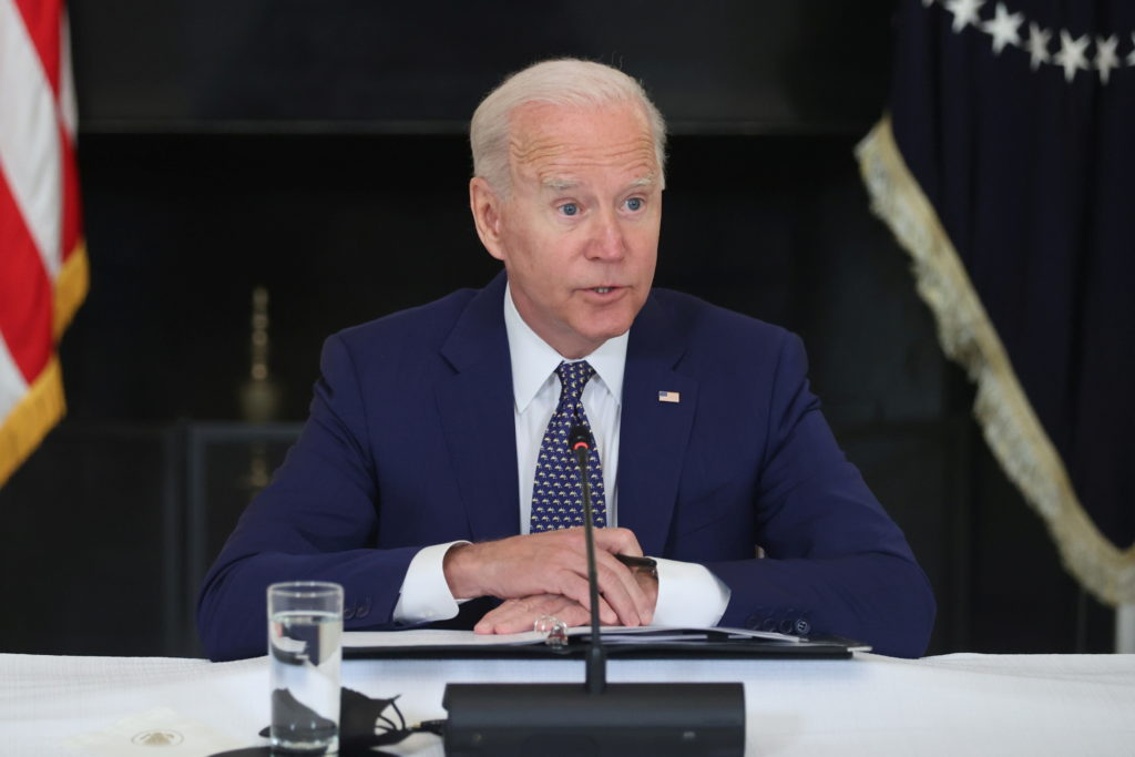 U.S. President Biden meets with leaders from the Asian American, Native Hawaiian and Pacific Islander communities at the W...