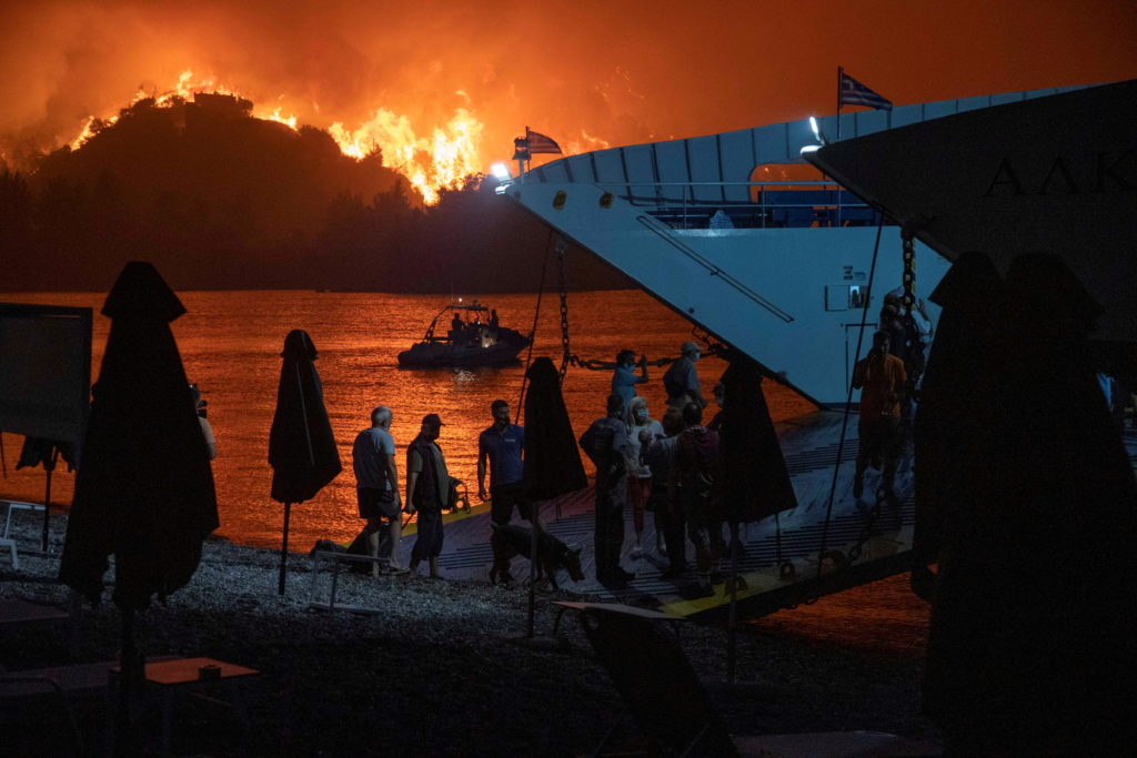 Wildfires continue in Evia