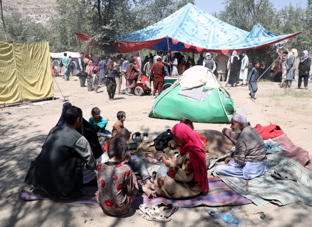 Internally displaced families from northern provinces, who fled from their homes due the fighting between Taliban and Afgh...