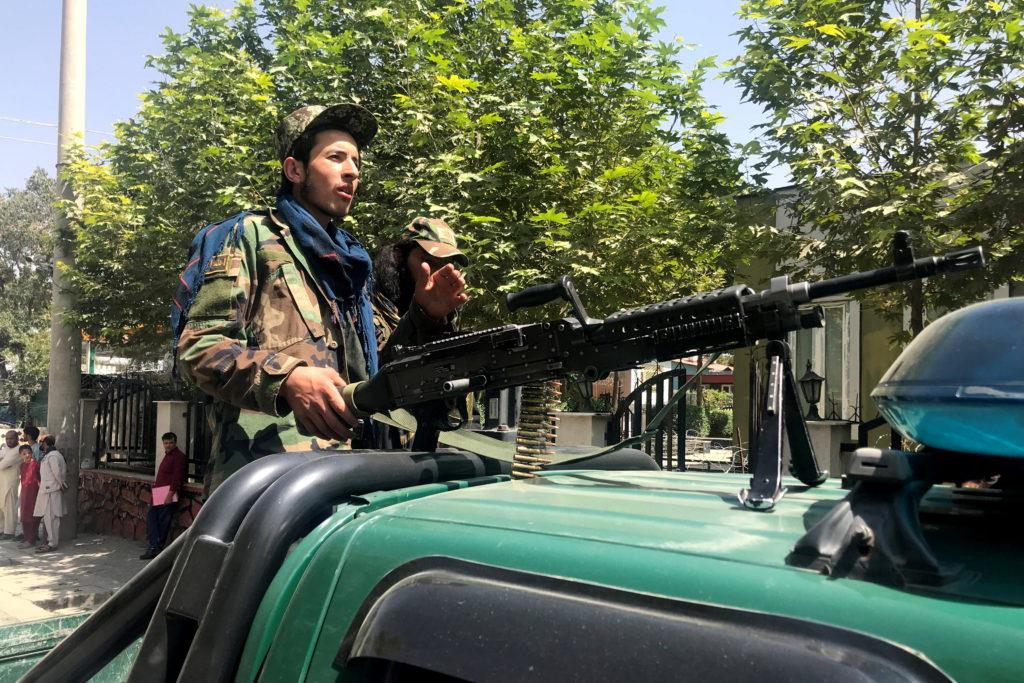 Taliban forces patrol in Kabul