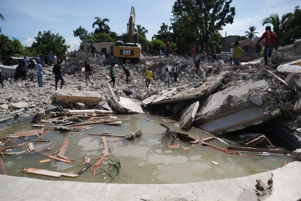 Aftermath of 7.2 magnitude earthquake in Les Cayes