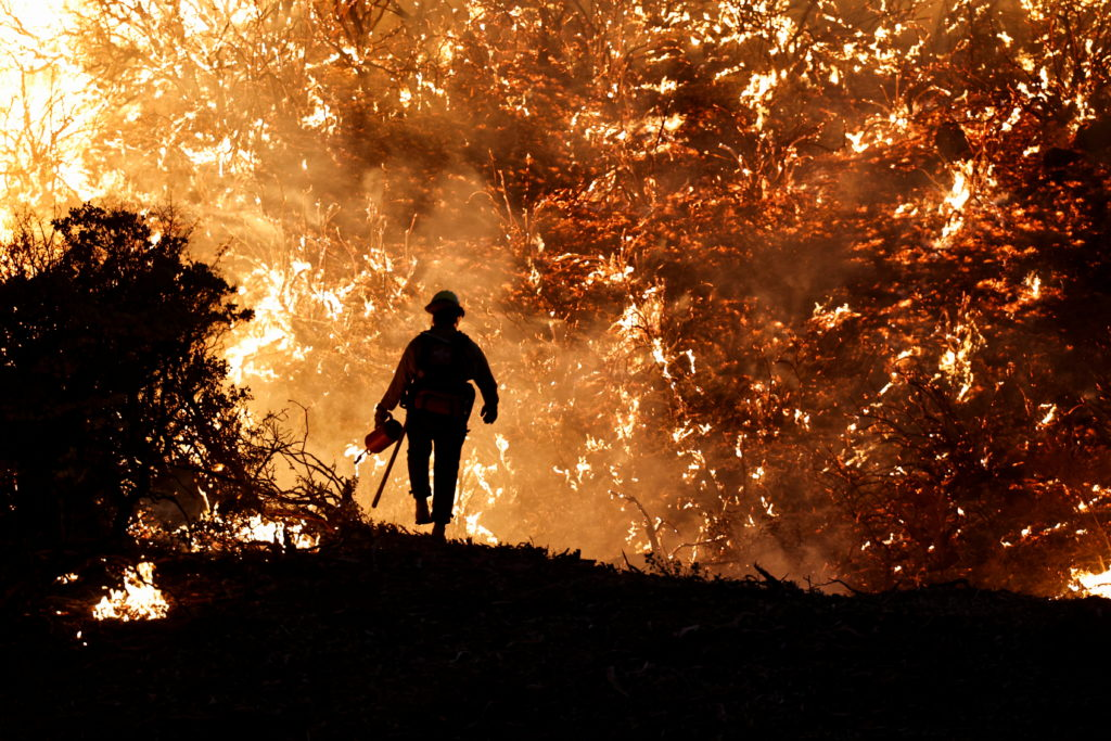 Caldor Fire in Grizzly Flats, California