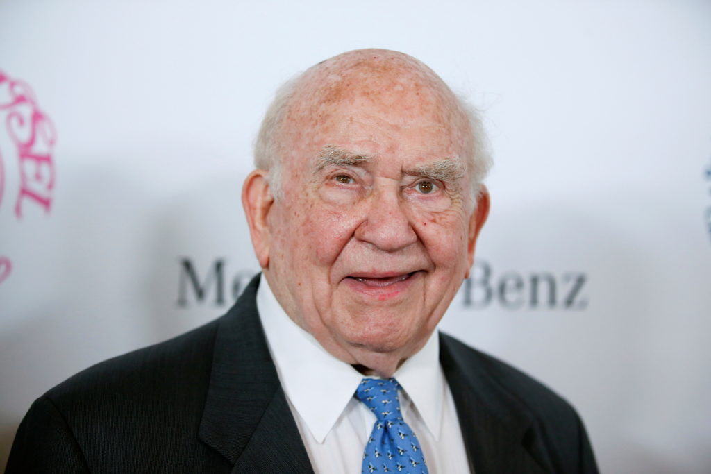 FILE PHOTO: Actor Ed Asner poses at The Mercedes-Benz Carousel of Hope Ball to benefit the Barbara Davis Center for Diabet...