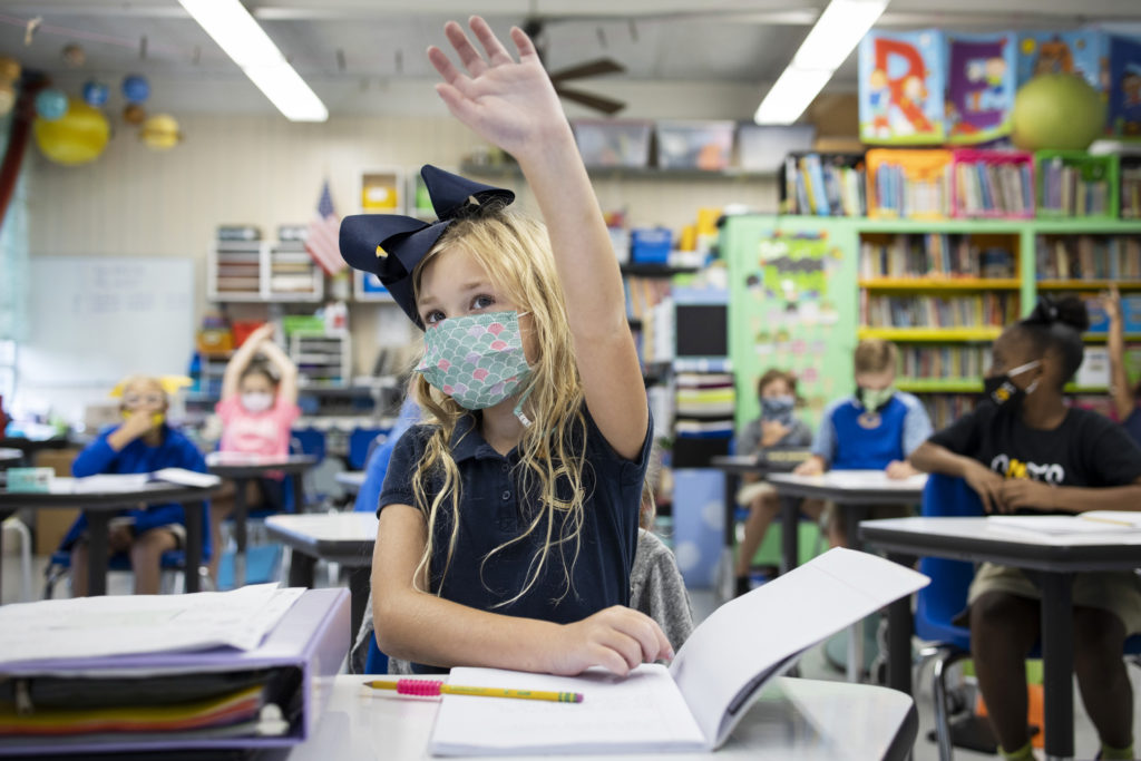Schools reopening in Mississippi amidst coronavirus pandemic.