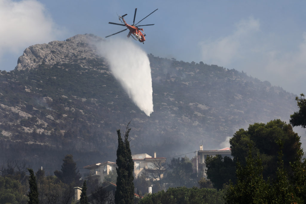 Residents Forced To Flee Homes As Greek Wildfires Continue