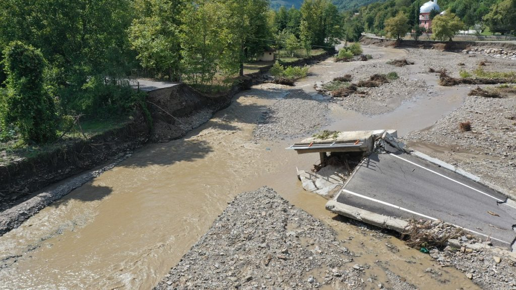 Aftermath of landslide and floods in Turkey's Bartin