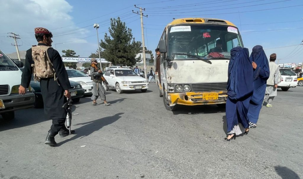 Daily life views as Afghans continue to wait at airport in Kabul