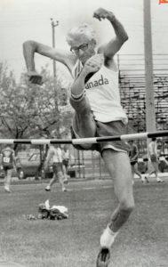 Ian Hume relies on scissors kick to win high jump in 60-64 class