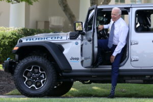 U.S. President Biden hosts an event for clean cars and trucks at the White House in Washington