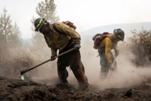 Firefighters continue to battle the Bootleg fire in Silver Lake, Oregon
