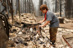 Aftermath of Caldor Fire in Grizzly Flats, California