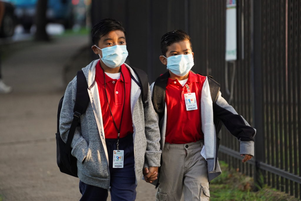 Students return to school in Houston, Texas