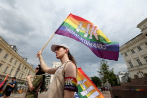 FILE PHOTO: Gathering in support of the LGBT community in Warsaw