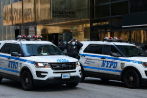 Security tightens ahead of U.S. President Donald Trump's scheduled visit to New York City