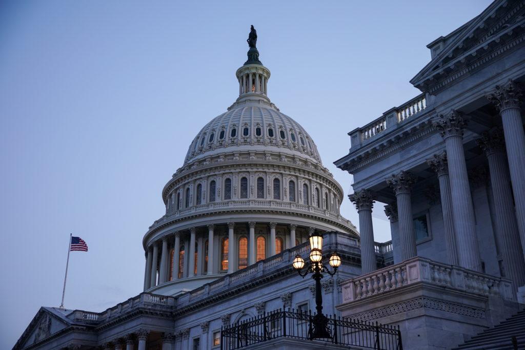 FILE PHOTO: Senators Arrive to Vote on Amendments to Infrastructure Bill
