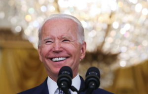 U.S. President Joe Biden answers questions from reporters at the White House in Washington