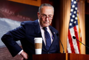 U.S. Senate Majority Leader Chuck Schumer holds news conference at the U.S. Capitol in Washington