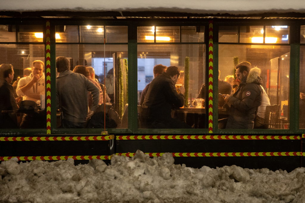 People enjoy outdoor dining as the spread of the coronavirus disease (COVID-19) continues in New York