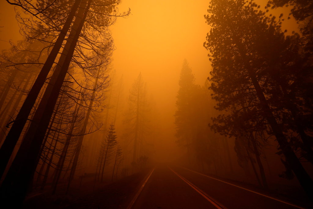 FILE PHOTO: Dixie Fire rages in California