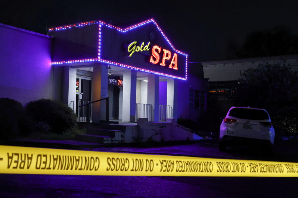 FILE PHOTO: Crime scene tape surrounds Gold Spa after deadly shootings in Atlanta