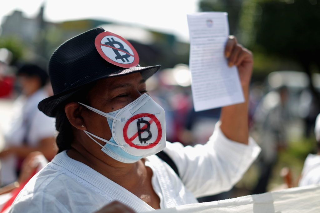 Salvadoreans protest against recent implementation of Bitcoin as legal tender