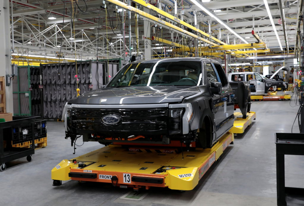 Ford Motors pre-production all-electric F-150 Lightning truck prototype