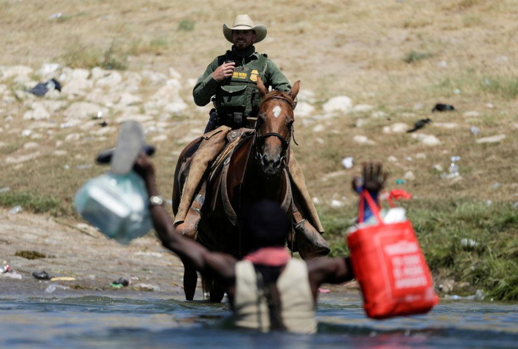 Migrants seeking asylum in the U.S. in Ciudad Acuna, Mexico