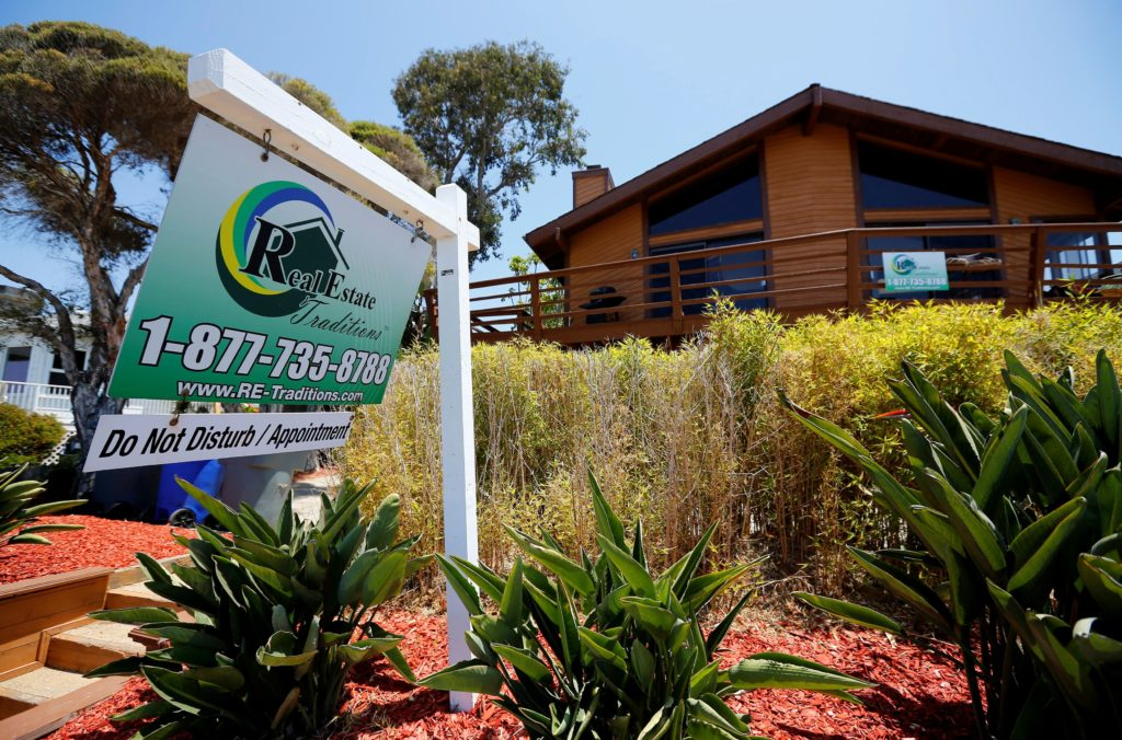 FILE PHOTO: Single family home is shown for sale in Encinitas
