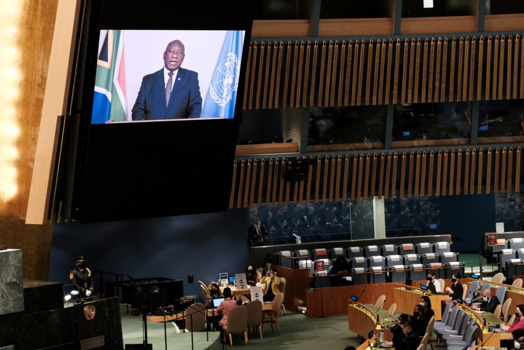 Image African country leaders urge U.N. members to increase access for COVID vaccines