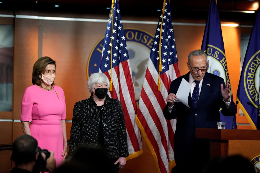 U.S. House Speaker Nancy Pelosi holds weekly news conference in Washington
