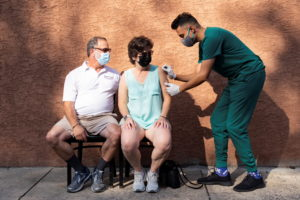 COVID-19 vaccine booster dose administered in Schwenksville