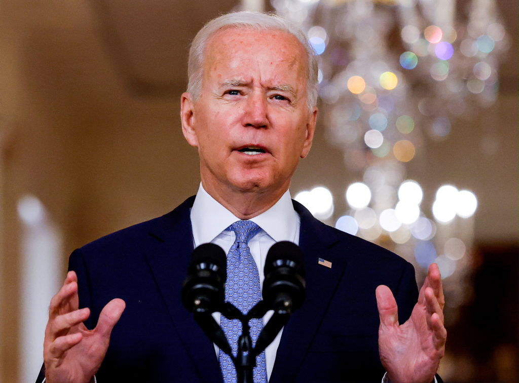 FILE PHOTO: U.S. President Biden speaks about Afghanistan at the White House in Washington