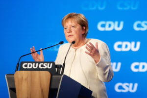 CSU party leaders attend a rally ahead of the general election, in Munich