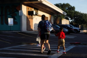 Students return on the first day school in Hillsborough County