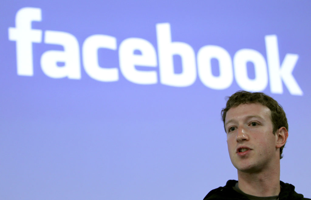 Facebook CEO Mark Zuckerberg speaks during a news conference at Facebook headquarters in Palo Alto