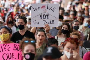 Abortion rights advocates protest restrictive laws, in Austin