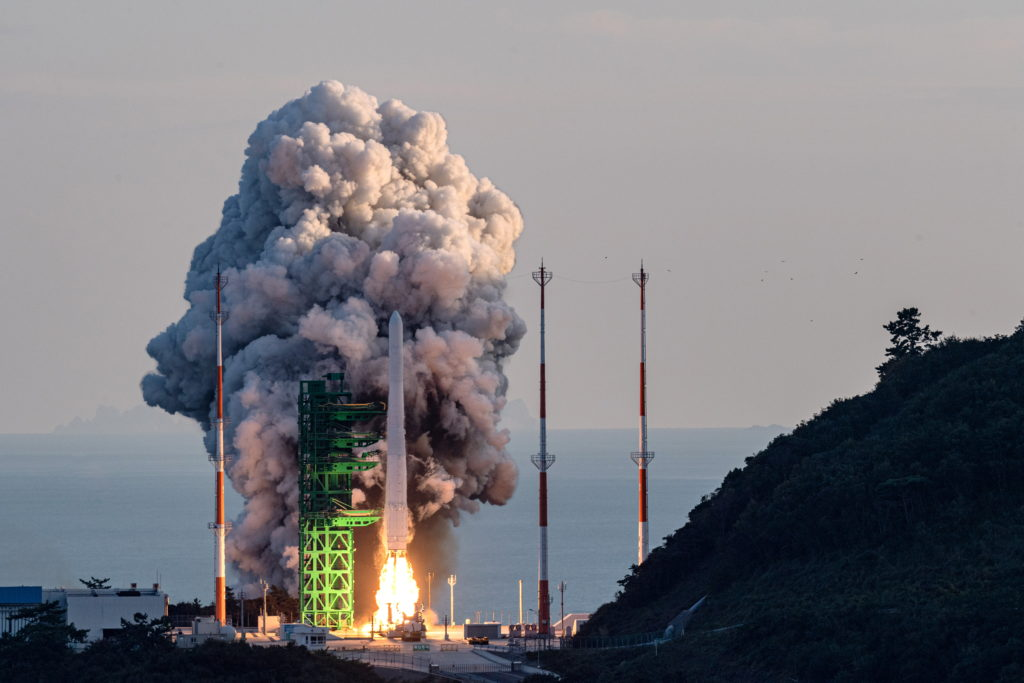 South Korea test launches 1st domestically made space rocket
